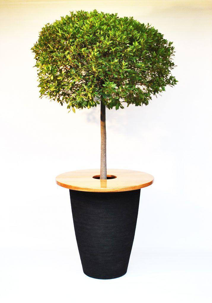 Met verschillende plantenbakken te leveren.